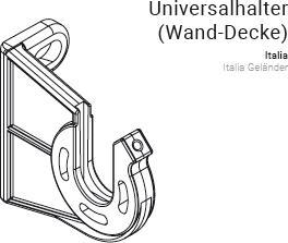 Universalhalter Wand Decke