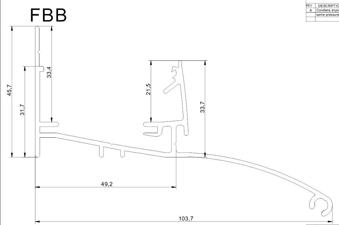 aluminium fussprofil 40mm mit trauffleistepaneel bei steg preiswert online kaufen. Black Bedroom Furniture Sets. Home Design Ideas