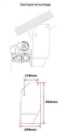 Dachsparrenkonsolen 2 er Set