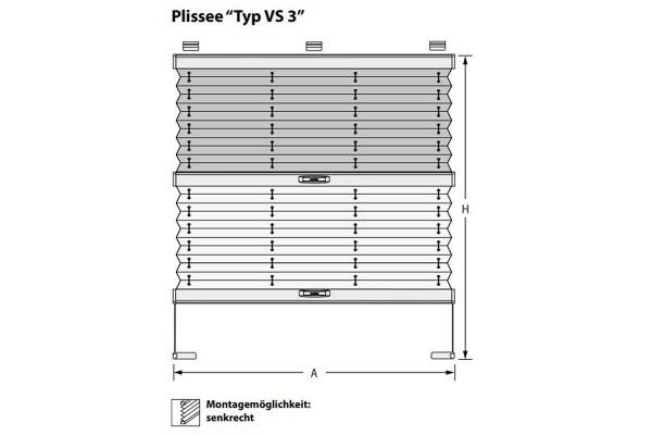 Plissee VS-3