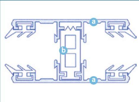 Alu thermisch getrenntes Mittelprofil für 16-32mm Stegplatten