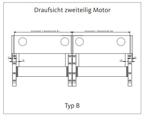 2 markisenfelder 2 Motoren