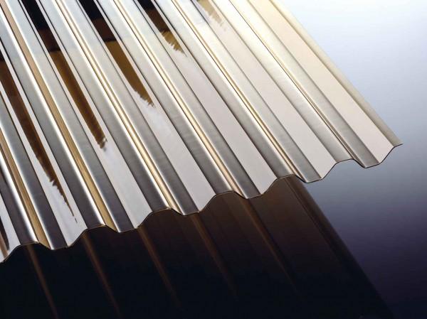 PVC Spundwand 1,4 mm bronze 70/18 Wellplatten
