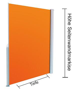 Höhe der Seitenwandmarkise