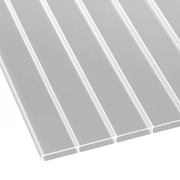 Doppelstegplatten Acryl 16/64 klar liegend