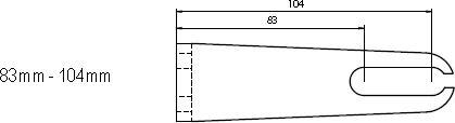 Aufspannwinkel 83 - 104mm