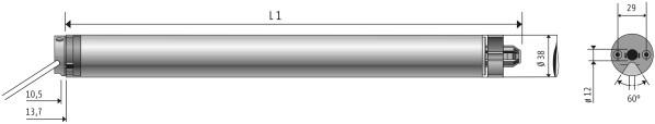 Somfy Oximo 40 io 4/16 BK SW mit Kabel 1m schwarz