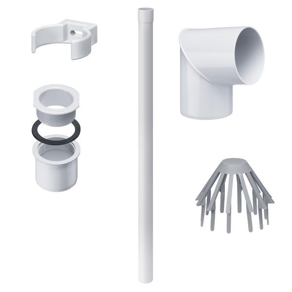 Rinnenentwässerungs-Set Weiß
