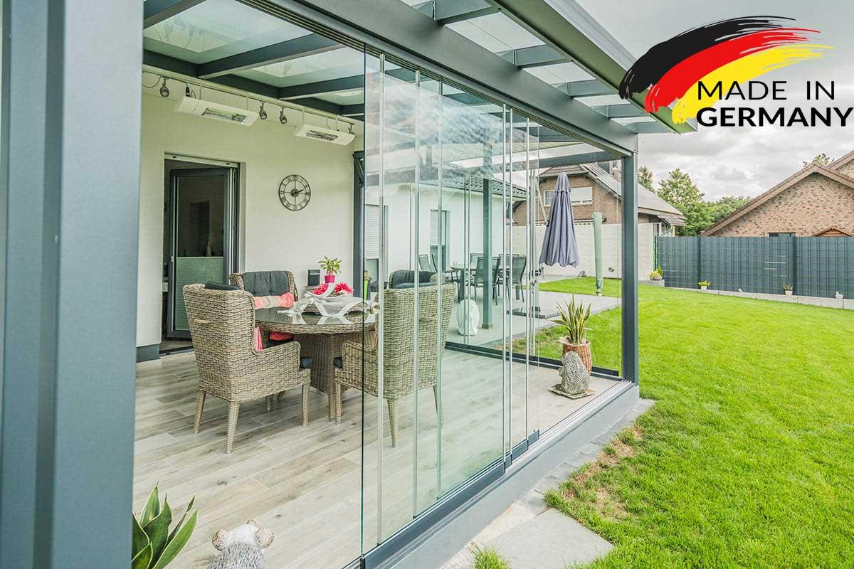 glasschiebewand ms20 4 gleisig 8 fl gel bei steg preiswert online kaufen. Black Bedroom Furniture Sets. Home Design Ideas