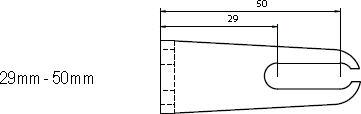 Aufspannwinkel 29 - 50mm