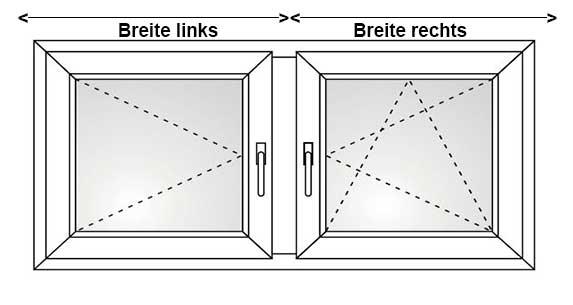 Breite rechtes Fenster