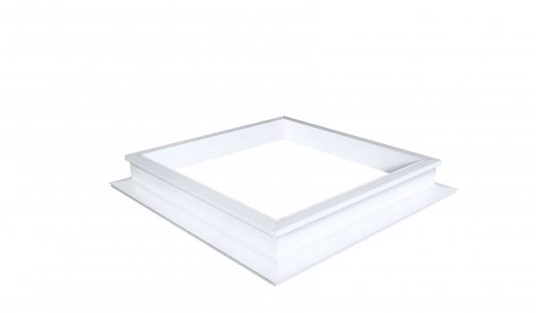 PVC-Aufsatzkranz 16/00 mit Lüfterrahmen Quadratisch