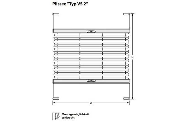Plissee Typ VS2
