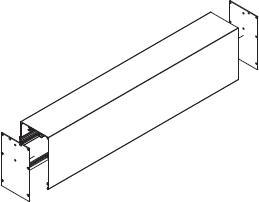 Blende Cube mit Führungs-Schienen und End-Kappen