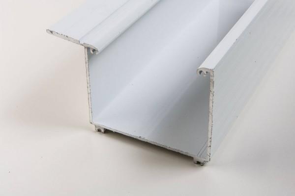 Aluminium Kastenrinne weiß