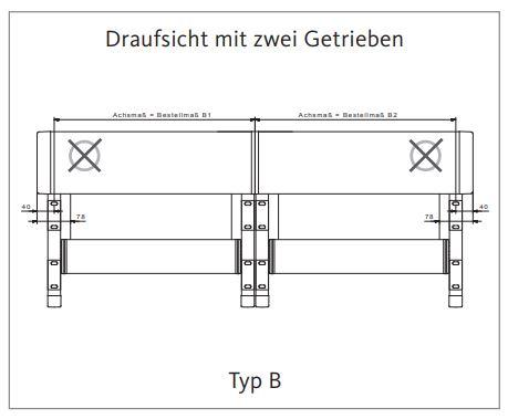2 Markisenfelder 1 Motor