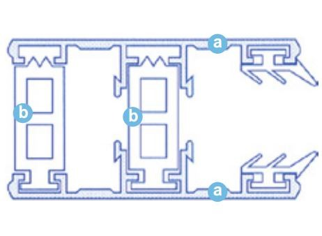 Alu thermisch getrenntes Randprofil für 16-32mm Stegplatten