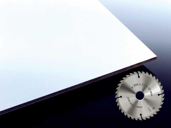 HPL Platte Farbe weiß im Zuschnitt