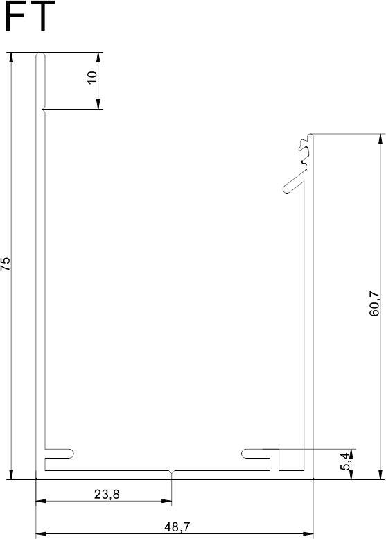 Aluminium Top Seitenprofil F R 40mm Paneel Bei Steg