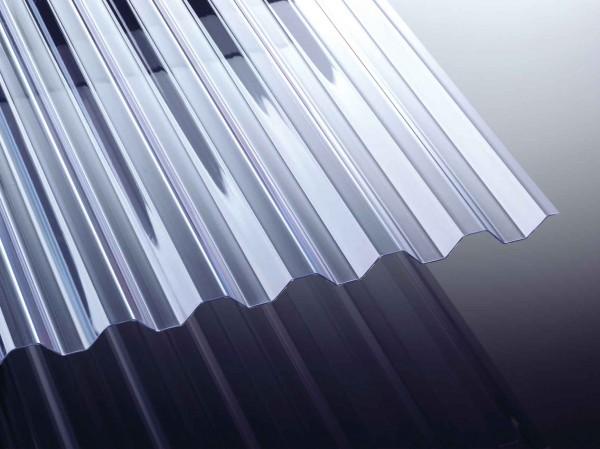Polycarbonat Trapez Wellplatte Profil 76/18 klar