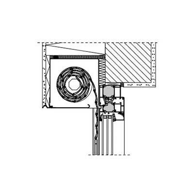 Vorbaurollladen 90° Mini mit Alu-Rollladenpanzer KL 37 Unterputz