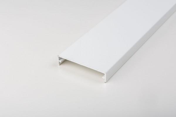 Aluminium Klemmdeckel weiß