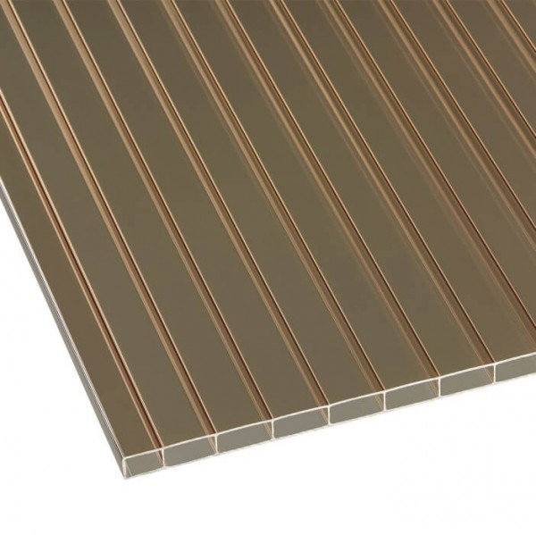 Doppelstegplatten Acryl 16/32 bronze liegend