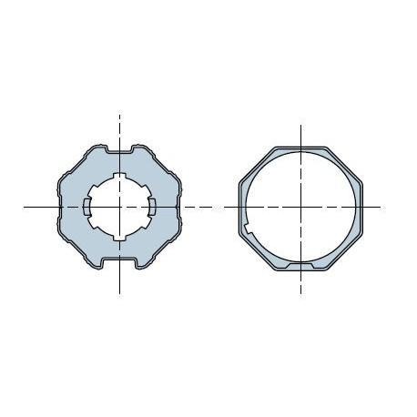 Nice Adaptersatz achteckig Zeichnung