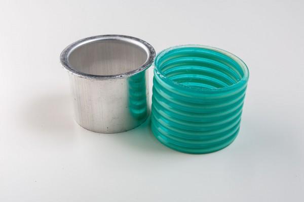 Aluminium Rinnenstutzen inkl. Kunststoffmanschette
