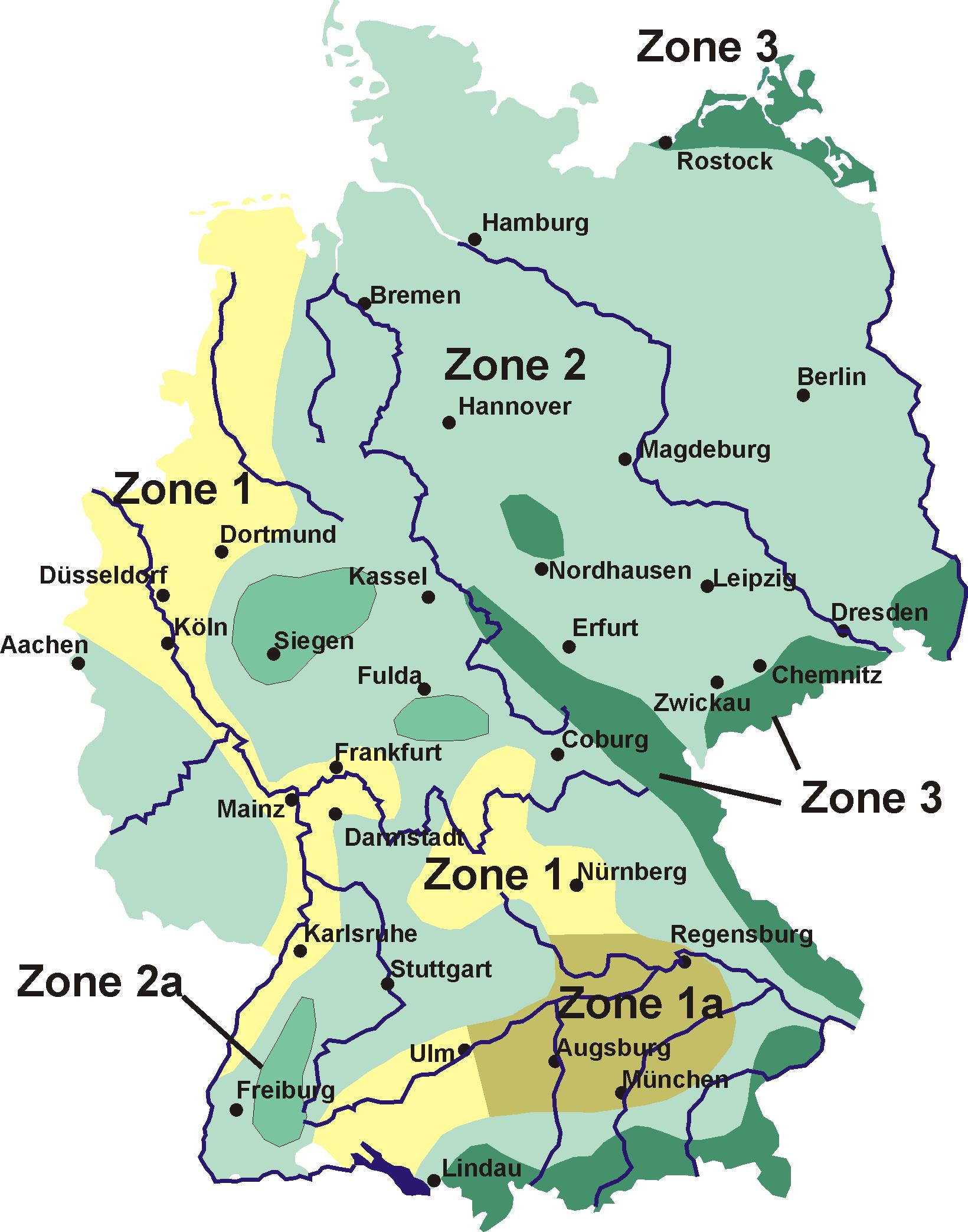 Schneelastzonen Deutschland