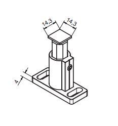 Führungs-Schienen-Teleskop-Halter 50-70mm