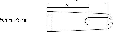 Aufspannwinkel 55 - 76mm