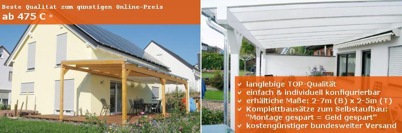 Terrassenüberdachungen mit Holzunterbau