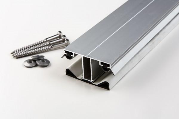 Aluminium Mittelprofil einfach mit Gummiunterlegband