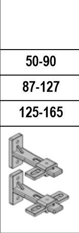 Gruppenmontage Halter 50 - 90mm