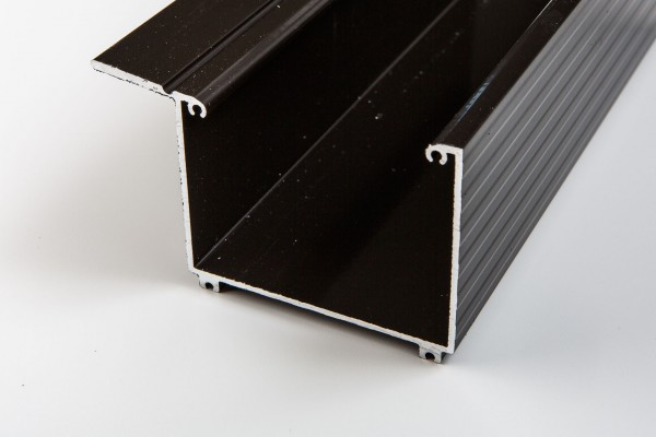 Aluminium Kastenrinne braun