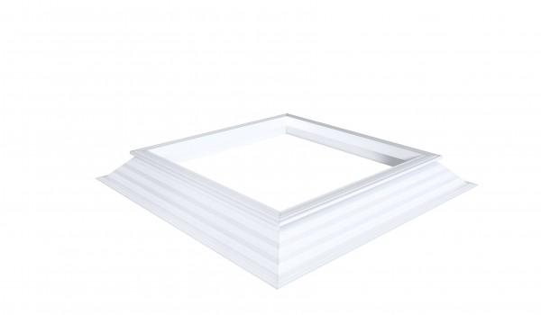 PVC-Aufsatzkranz 16/20 EP mit Lüfterrahmen quadratisch