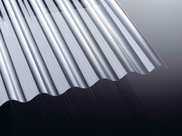 PVC runde Welle 1,2 mm glasklar 70/18 Wellplatten NOVAKLAR
