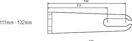 Aufspannwinkel 111 - 132mm