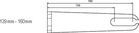 Aufspannwinkel 139 - 160mm