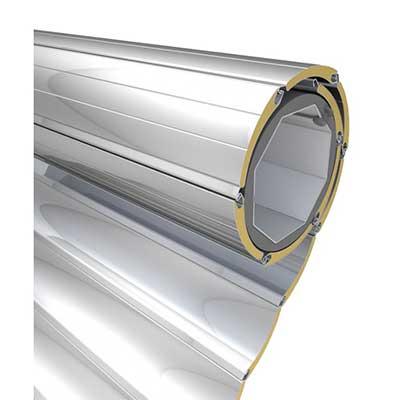 Aluminium Rollladenstäbe ausgeschäumt
